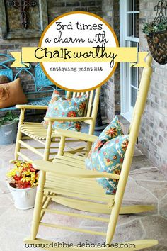 Chalkworthy paint kit saving worth the paint antiquing kit with different techniques and how to's. This paint was a savior on these old rockers.: Chalkworthy paint kit saving worth the paint antiquing kit with different techniques and how to's. This paint was a savior on these old rockers.