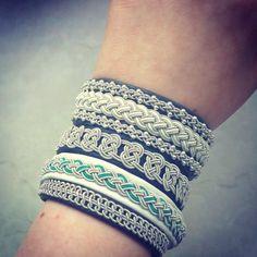 Sami leather bracelets.  #handmade #Sami #bracelets #leather #jewelry #viking #Lapland #lapon #silver #pewter #celtic #nordic #Scandinavian #Swedish