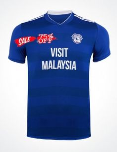 9659dbf3c 2018-19 Cheap Jersey Cardiff City Home Replica Soccer Shirt  CFC814  Soccer  Shirts