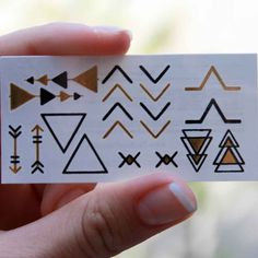 Triangles and Arrows Gold