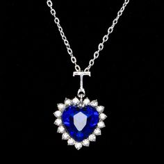 73f959e87aea2 12 Best Jewelry images | Jewelry, Blue sapphire, Drop necklace