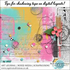 Captivated Visions - Artful Digi Scrapping | Tips for shadowing digital tape. Why you should use 'Fill' as opposed to 'Opacity' to mimic Washi Tape.