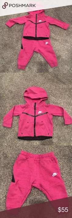 eeef850aa557 Nike Baby Girl Tech Fleece sweatsuit. Size 12 M. Nike Tech Fleece Baby  sweatsuit