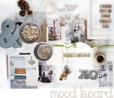Do you ever make mood boards or inspirational boards? I created this mood board y. Monday Inspiration, Inspiration Boards, Interior Design Boards, Art Journal Techniques, Blog Design, Photoshop Elements, Paper Decorations, Event Decor, Mood Boards