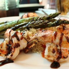 Pan Seared Shrimp - garlic rubbed shrimp, lime infused risotto, seasonal vegetables and citrus beurre blanc