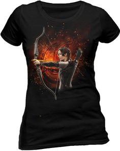 Los juegos del hambre - Camiseta En Llamas de Katniss Everdeen #regalo #arte #geek #camiseta