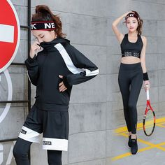 a8b83234ef830 Yoga Set Sport Jacket+Running Pants+Short+T-Shirt+Sports Bra 5 Pieces Sportswear  Plus Size Fitness Breathable Gym Clothing.