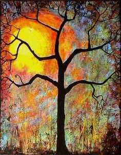 Sunset Print Tree Art 8X10 Sunrise - Sunny - Sunshine Winter Trends - Bright. $20.00, via Etsy.