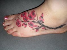 ... Cherry Blossom Tattoo Designs Especially Japanese Cherry Blossom Foot