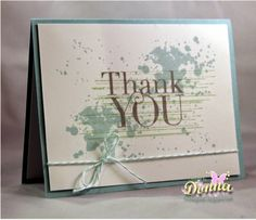 Stampin Up Another Thank You and Gorgeous Grunge