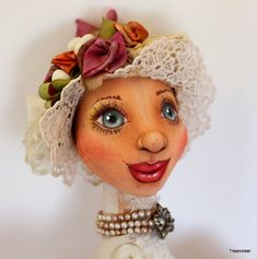 Fantasy Cloth Art Doll Grace Edwardian  Doll by Treenickel on Etsy, $200.00