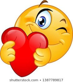 Find Winking Emoticon Emoji Hugging Red Heart stock images in HD and millions of other royalty-free stock photos, illustrations and vectors in the Shutterstock collection. Thousands of new, high-quality pictures added every day. Smiley Emoji, Hug Emoticon, Emoticon Faces, Images Emoji, Emoji Pictures, Love Smiley, Emoji Love, Animated Emoticons, Funny Emoticons