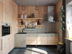 Holzküchen  holzküchen küchenschränke holz einrichtungsideen küche | Küche ...