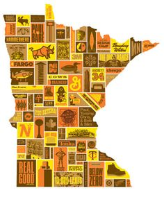 AWESOME Minnesota poster by Draplin Design