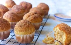 A tasty vanilla muffin with a hint of nutmeg and a topping of butter and cinnamon-sugar. Replacing of all purpose flour with almond flour makes them taste richer and keep fresh longer. cups all purpose cup almond flour) Donut Muffins, Mini Muffins, Whole Food Recipes, Dessert Recipes, Baking With Almond Flour, Types Of Cakes, King Arthur Flour, Cupcakes, Whole Foods Market