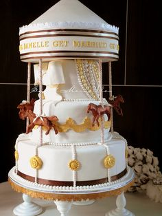 Carousel Wedding Cake by Sweet Merveilles, via Flickr