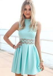 Vestido corto azul claro