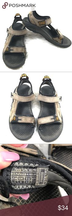 a38870881 Teva Mens 9 Outdoor Sport Sandals Shoes Breathable Teva men s tan brown  sport sandals. Gently