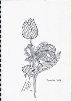 Одноклассники Bobbin Lace Patterns, Lacemaking, Point Lace, Needle Lace, String Art, Tatting, Fairy, How To Make, Rose