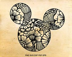 Mickey mouse svg files, Zentangle svg, Disney designs, Iron on designs, Cut files for Cricut, Files for Silhouette Cameo, eps dxf svg png