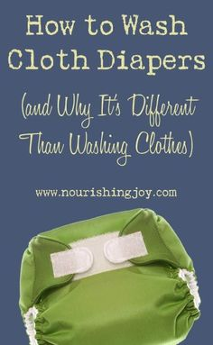 Washing cloth diapers isn't difficult, but it's different than washing clothes. Find out how and why with our helpful post.