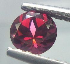 NATURAL REDDISH PINK RHODOLITE GARNET 1 CTS 6 MM ROUND LOOSE GEMSTONES RLG12 #unitedgemstones