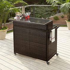 Ty Pennington Style Parkside Woven Bar Cart