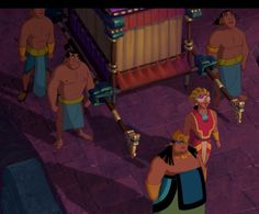 The chief, High Priest and Temple Servants 'The Road to El Dorado' Screenshot from the animated film