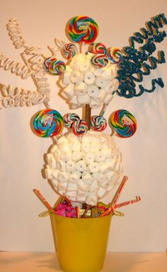 Candy Centerpieces by Covered in Candy - mazelmoments.com