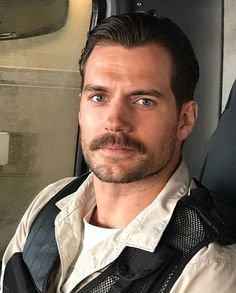 "chadwickbobadwick: ""This picture of Henry Cavill with a mustache is making me feel things 👀 """