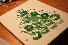Handprint christmas trees - I am so going to do this!