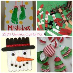 25 DIY Christmas craft for kids PareningHealthyBabies.com
