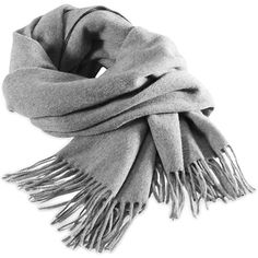 FILIPPA K Cashmere Blend Scarf Accessories ($86) ❤ liked on Polyvore featuring accessories, scarves, other, grey, light grey melange, gray scarves, filippa k, grey scarves, gray shawl and fringe scarves