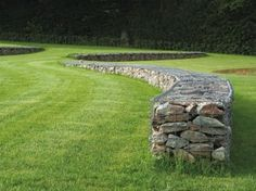 curved gabion walls