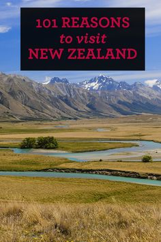 Go bungy jumping, skydiving, paragliding, helicopter flying, jet boating and white water rafting in the same day if you want to. Just 1 of 101 reasons to visit New Zealand.