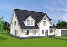 Haus mit Einliegerwohnung mit Blick auf Eingänge