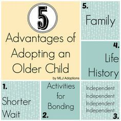 Sheri describes 5 advantages of adopting and older child. Read to find out the details for each advantage! Foster Care Adoption, Foster To Adopt, Foster Mom, Adopting Older Children, Adopting A Child, Adopted Children, Raising Kids, Foster Parenting, Parenting Advice