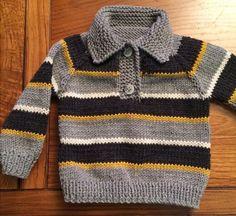 Knitting patterns boys sweaters crochet cardigan 38 new ideas Baby Boy Knitting Patterns, Baby Sweater Patterns, Knit Baby Sweaters, Boys Sweaters, Knitting For Kids, Knitting Designs, Knitted Baby Clothes, Baby Knits, Knitting Projects