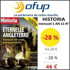 #missbonreduction; Econmisez 28 % sur votre abonnement au magazine Historia chez Ofup.http://www.miss-bon-reduction.fr//details-bon-reduction-Ofup-i349-c1832769.html