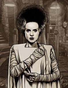 Bride of Frankenstein Pin Up | THE_BRIDE_OF_FRANKENSTEIN_by_mister_bones.jpg
