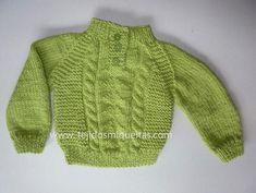Tejidos Miqueitas   Para días lluviosos y fríos en lana abrigada Lana, Knitting, Sweaters, Patterns, Fashion, Cold, Baby Vest, Entryway, Sacks