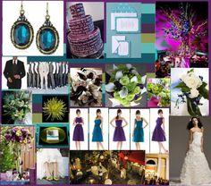 Teal and purple wedding!!
