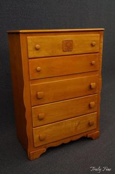 Beautiful VIRGINIA HOUSE Rock Maple Mid Century 5 Drawer Chest Of Drawers Dresser  Bedroom