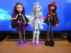 My three Ever After High dolls, from different issues, all bought/got new (one was a present :) )