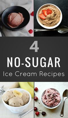 4 Quick and Easy No-Sugar Ice Cream Recipes With a dose of sweetness from frozen bananas, these healthy homemade ice cream recipes have all of the flavor of the frozen treat you love, without the sky-high fat or sugar count. No Sugar Ice Cream, Yogurt Ice Cream, Low Carb Ice Cream, Diabetic Ice Cream, Vegan Ice Cream, Low Sugar Recipes, Healthy Dessert Recipes, Quick Recipes, Healthy Food