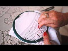Ponto roseta hardanger | Cantinho do Video