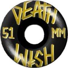 DEATHWISH WHEELS STACKED BK/GLD/WHT 51MM