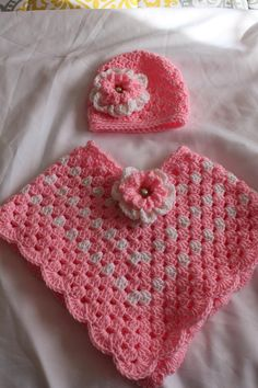 Best 12 Hand crochet baby poncho and hat – SkillOfKing. Crochet Baby Poncho, Crochet Poncho Patterns, Crochet Girls, Crochet Baby Clothes, Crochet Shawl, Hand Crochet, Baby Knitting, Knit Crochet, Toddler Poncho