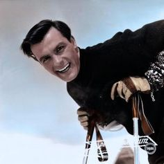 Toni Sailer -  (17.11.1935 - 24.08.2009) was an Austrian alpine ski racer, who is considered among the best in the sport. He won three gold medals in alpine skiing at the 1956 Winter Olympics. Two years later, Sailer won three gold medals and one silver at the four-event 1958 World Championships in Bad Gastein, Austria. He retired from competition in 1959. He appeared in a handful of movies and sang professionally for a time, made 18 record albums.