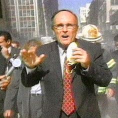 Rudy Giuliani  mayor of NYC on 9/11..great man and so strong  when his City was attacked..